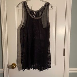 Free People lacy mesh tank. Great condition!